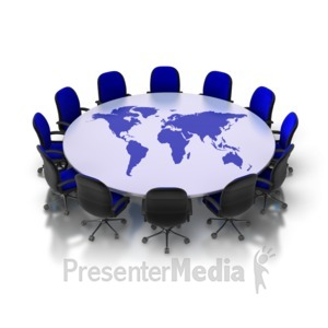 ID# 8705 - Table Of The World - Presentation Clipart