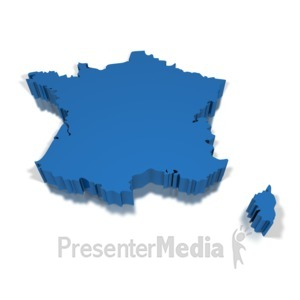 ID# 8707 - 3-D France - Presentation Clipart
