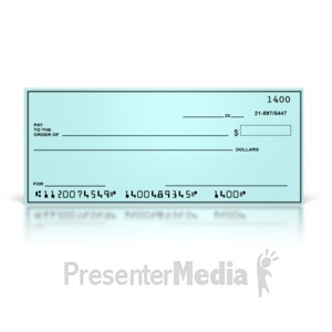 ID# 8720 - Blank Check - Presentation Clipart