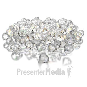 ID# 8733 - Pile Of Diamonds - Presentation Clipart