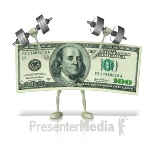 ID# 8738 - Strengthening The Dollar - Presentation Clipart