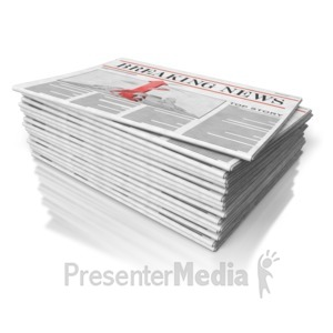 ID# 8757 - Newspaper Stack - Presentation Clipart