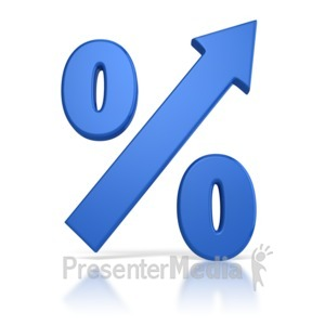 ID# 8779 - Percentage Going Up - Presentation Clipart
