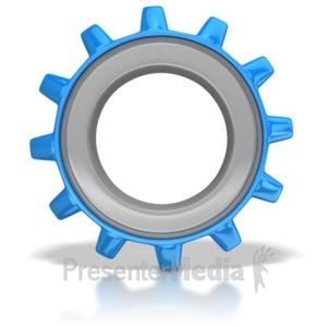 ID# 8792 - Single Gear - Presentation Clipart