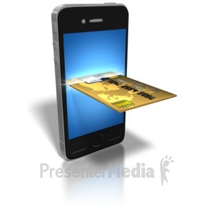 ID# 8802 - Smart Phone Credit Card - Presentation Clipart
