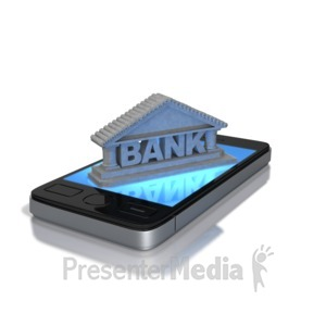 ID# 8803 -  Mobile Banking - Presentation Clipart