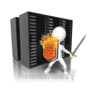 ID# 8810 - Security Wall Servers - Presentation Clipart