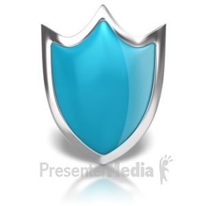ID# 8853 - Blank Shiny Shield - Presentation Clipart