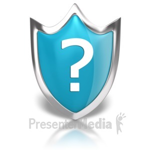 ID# 8855 - Shield Question - Presentation Clipart