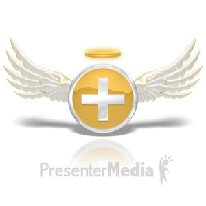 ID# 8858 - Positive Angel Button - Presentation Clipart