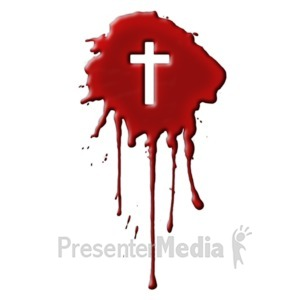 ID# 8884 - Blood With Cross - Presentation Clipart