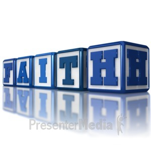 ID# 8893 - Faith Blocks - Presentation Clipart