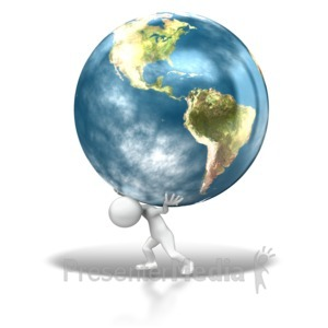 ID# 8903 - The Weight Of The World - Presentation Clipart