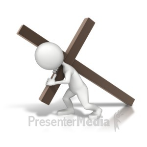 ID# 8908 - Carrying The Cross - Presentation Clipart