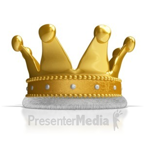 ID# 8910 - A Kings Crown - Presentation Clipart