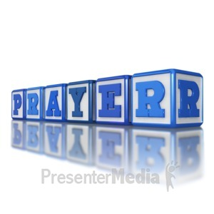 ID# 8911 - Prayer Blocks - Presentation Clipart
