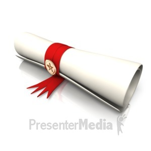 ID# 8990 - Single Diploma - Presentation Clipart