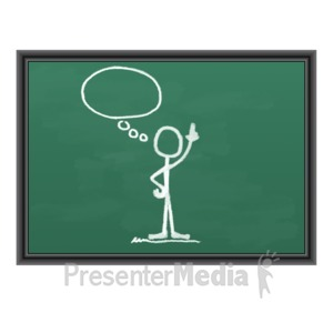 ID# 9000 - Chalk Figure Blank Idea Bubble - Presentation Clipart