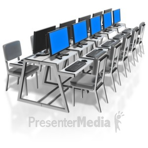 ID# 9003 - Computer Lab - Presentation Clipart