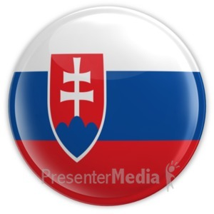 ID# 9009 - Badge of Slovakia - Presentation Clipart