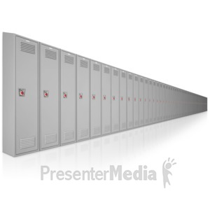 ID# 9011 - School Locker Row - Presentation Clipart