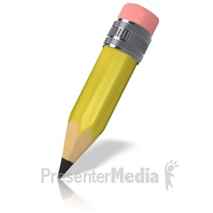 ID# 9021 - Cartoon Pencil - Presentation Clipart