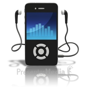 ID# 9034 - Music Player Standing Upright - Presentation Clipart