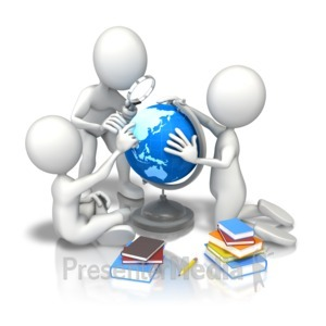 ID# 9039 - Children School Study Earth - Presentation Clipart