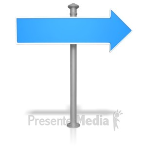 ID# 9058 - Blank Street Sign - Presentation Clipart