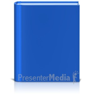 ID# 9078 - Front Facing Book Colored - Presentation Clipart