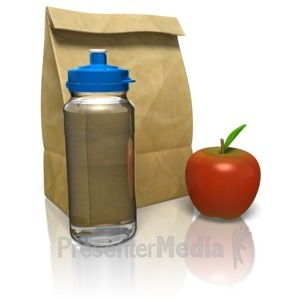 ID# 9082 - Sack Lunch - Presentation Clipart