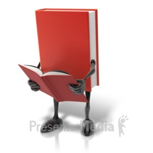 ID# 9091 - Book Character Reading - Presentation Clipart
