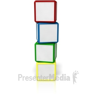 ID# 9099 - Blank Four Stack - Presentation Clipart