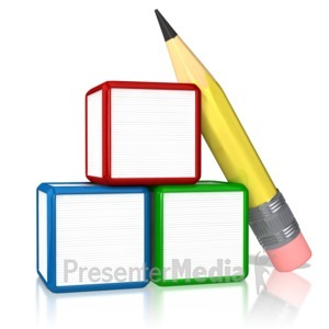 ID# 9100 - Blank Three Stack - Presentation Clipart