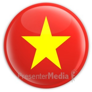 ID# 9106 - Badge of Vietnam - Presentation Clipart