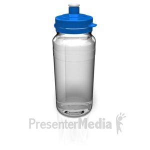 ID# 9138 - Water Bottle - Presentation Clipart