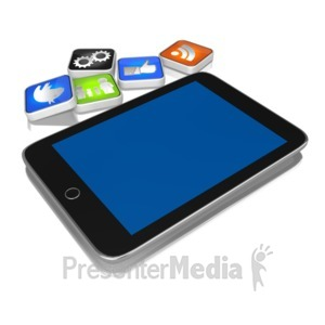 ID# 9145 - App On The Ground - Presentation Clipart