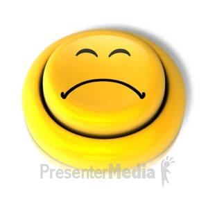 ID# 9151 - Smiley Face Sad Button - Presentation Clipart