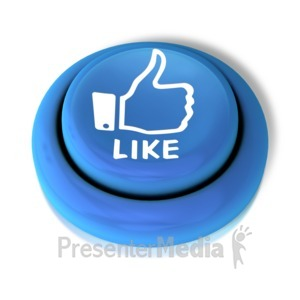 ID# 9154 - Like Thumbs Up Button - Presentation Clipart