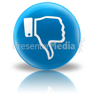 Media Icon - Dislike PowerPoint Clip Art