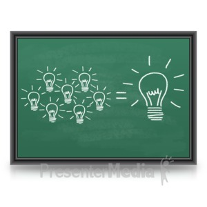 ID# 9194 - One Big Great Idea - Presentation Clipart