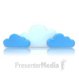 ID# 9196 - Group Blue Cloud - Presentation Clipart
