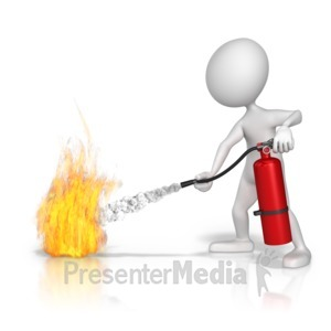 ID# 9202 - Spray Fire Extinguisher - Presentation Clipart