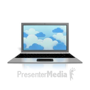 ID# 9227 - Cloud Computing Computer - Presentation Clipart