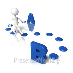 ID# 9235 - Getting From A To B - Presentation Clipart
