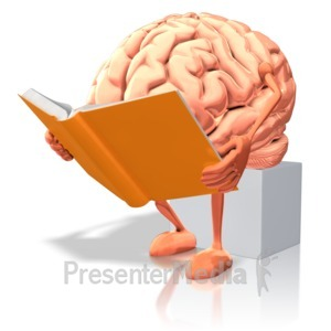 ID# 9240 - Brain Reading - Presentation Clipart