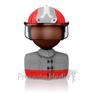 ID# 9294 - Firefighter Icon - Presentation Clipart
