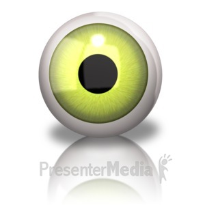 ID# 9354 - Single Eyeball - Presentation Clipart