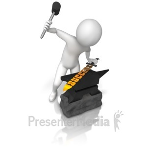 ID# 9368 - Forging Success - Presentation Clipart