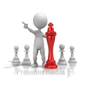 ID# 9372 - Chess Strategy - Presentation Clipart